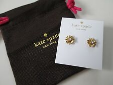NWT Auth Kate Spade Dazzling Daisies Gold Daisy Flower Stud Earrings $38