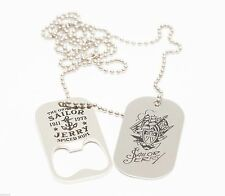 Sailor Jerry Spiced Rum Stainless Steel Dog Tags Bottle Opener Necklace