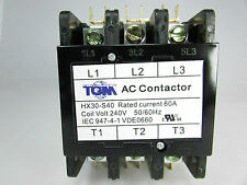 DEFINITE PURPOSE CONTACTOR 60AMP-3POLES-240VOLTS 50/60Hz-HEAT PUMP, A/C REFRIGER