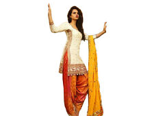 India Stylish Designer Bollywood Cotton White Color Salwar Suit