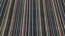 EPINGLE STRIPE VELVET LEAD GREY DESIGNER PAUL SMITH MAHARAM FABRIC BY THE YARD