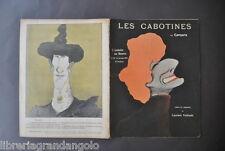 Rivista Caricature Teatro Assiette au Beurre les Cabotines Camara Parigi 96 1903