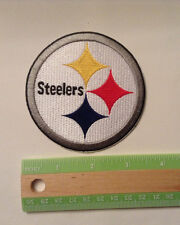 "Pittsburgh Steelers, embroidered, 3.25"" by 3.25"" iron on patch, NFL, football"