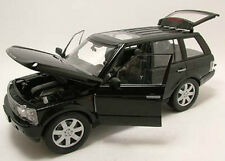 Welly 1/18 Scale 2003 Land Rover Range Rover Black SUV Diecast Car Model 12536