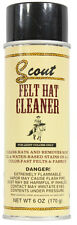 Scout Felt Hat Cleaner Spray Light Color Felt Hats Cleans & Removes Stains 6 OZ