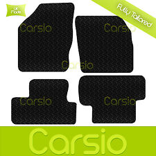 Black Fully Tailored Rubber Car Floor Mats For Ford Focus C-Max 2003 - 2011