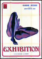 EXHIBITION MANIFESTO CINEMA FILM EROTICO CLAUDINE BECCARIE 1975 MOVIE POSTER 4F