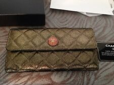Matelasse Chanel Classic Gold  long purse  2013 autumn-winter collection New