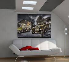 Vintage car large giant cars poster print photo mural wall art ib664