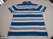 Men's Tommy Hilfiger Polo shirt stripe 7845157 Reef Turquoise M slim fit pocket