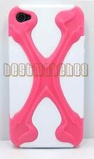 for iphone 4 4s hybrid soft and hard case 3D cool X design plus film //