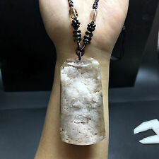 NATURAL A+++++ Very rare Beautiful white phantom QUARTZ CRYSTAL PENDANT
