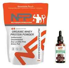Chocolate Organic Whey Protein 1kg + Stevia Chocolate Flavour drops