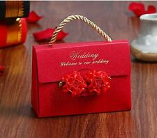 10PCs Luxury Wedding Party Favor Hollow Ribbon Gift Bags Candy Boxes
