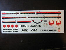 1/200 DECALS HASEGAWA DOUGLAS DC10  JAL JAPAN AIR LINES DECALCOMANIES