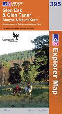 OS Explorer Map 395: Glen Esk and Glen Tanar, Aboyne & Mount Keen NEW
