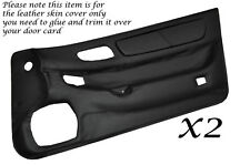 BLACK LEATHER 2X DOOR CARDS SKIN COVERS FITS MITSUBISHI GTO 3000GT STEALTH 92-99