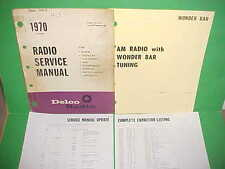 1970 CHRYSLER IMPERIAL CROWN LEBARON DELCO WONDER BAR AM RADIO SERVICE MANUAL 70
