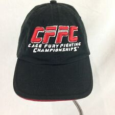 Cage Fury Fighting Championship Ball Cap One Size Fits Most Black