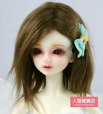 "6~7"" (16~17cm) 1/6  BJD DOLL MSD Fur Wig Dollfie Brown M02"