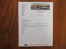 KEN  TRICKEY (Died-2012) Signed 1973 Letter- Oral Roberts Men's Basketball Coach