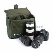 Caden Army green Camera Insert Case Partition Padded Bag Lens Divider Pouch/A3