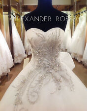 STUNNING DESIGNER WEDDING DRESS BY ALEXANDER ROSSA BNWT SIZE 12 /14