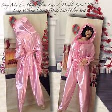 Sissy Maid ~ High Gloss Liquid DOUBLE Satin, Long Onesie/Play Suit/Body Suit.
