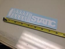 Static WHITE Sticker decal Car window bumper coilovers stance slammed VIP illest