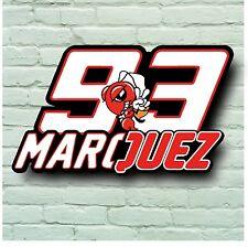 Marc Márquez 93 2 Pies imagen signo Placa De Pared De 5 Mm De Plástico Español Moto Gp Rider