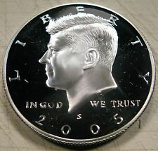 2005 S Kennedy Half Dollar 90% Silver Cameo Proof Coin