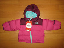 NWT Infant Girls The North Face Nuptse Hoodie Jacket  (Retail $99.00)