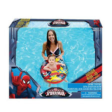 SPIDERMAN RIDE IN BABY TODDLER SWIM RING TUBE POOL FLOAT SEAT BOAT NEW 0-3