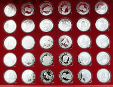 Complete Set of 30 Chinese Giant Panda Silver Medal Coins