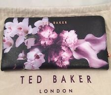 Ted Baker Ethereal Posie Xhatch Matinee Purse Navy With Ted Dust Bag