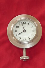 Waltham 8 Day Dash Mount Beveled Lens Antique Accessory Auto Clock 1920's 1930's