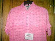 LADIES WESTERN SHIRT BY WRANGLER NEW WITH TAG  SIZE 3X-LARGE SNAPS SHORT SLEEVES