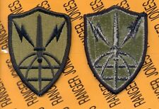 USA Information Systems Engineering Command OD Green & Black Duty patch m/e