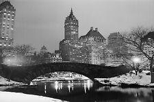 "Old Central Park New York City USA Large Canvas Picture Wall Art 30"" x 20"""