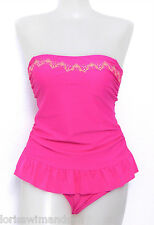 Hula Honey Junior Small Solid Pink 1-Piece Swimsuit Swimdress NO STRAP S NWT