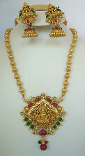 South Indian Traditional Jewellery Lakshmi dollar set with  lakshmi earring