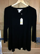 Max Studio Studio M Black Scoop Neck Jumper - US 3X - BNWT