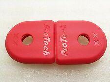 Red Pair Of 2 pcs Crank End Protector for SRAM XX Carbon Fiber Cranksets Boot