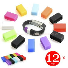 12 x Silicone Security Band Clasp Ring Loop Fastener For Fitbit Alta Flex Buckle