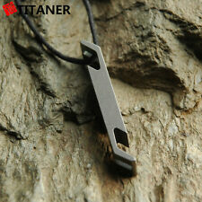 Titaner Titanium Bottle Opener EDC Outdoor Camp Keychain Survival Emergency Tool