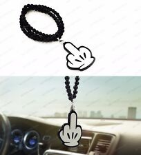 Fashion Micky Middle Finger Car Auto Rearview Mirror Pendant Ornament Hanging