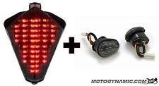 07-08 Yamaha R1 SEQUENTIAL LED Tail Light SMOKE + Flush Mount Turn Signals Combo