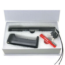 Portable 532nm Green Laser Pointer Pen Dot Visible Beam + Battery + Charger kits