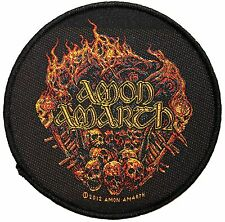 Amon Amarth Viking Pyre & Skulls Death Metal Band Music Sew On Applique Patch