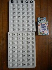 WHITE PLASTIC MASTERBOARD WITH NUMBERS 1-75 + DECK OF 75 BINGO CALLING CARDS